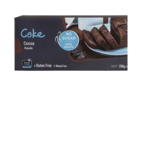 Κέικ κακάο χωρίς προσθήκη ζάχαρης 250γρ