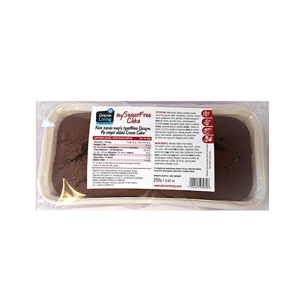 Κέικ κακάο χωρίς προσθήκη ζάχαρης